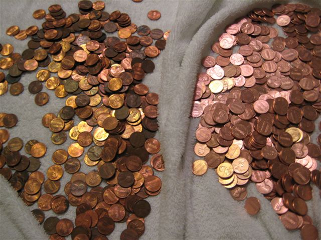 Pennies - before and after