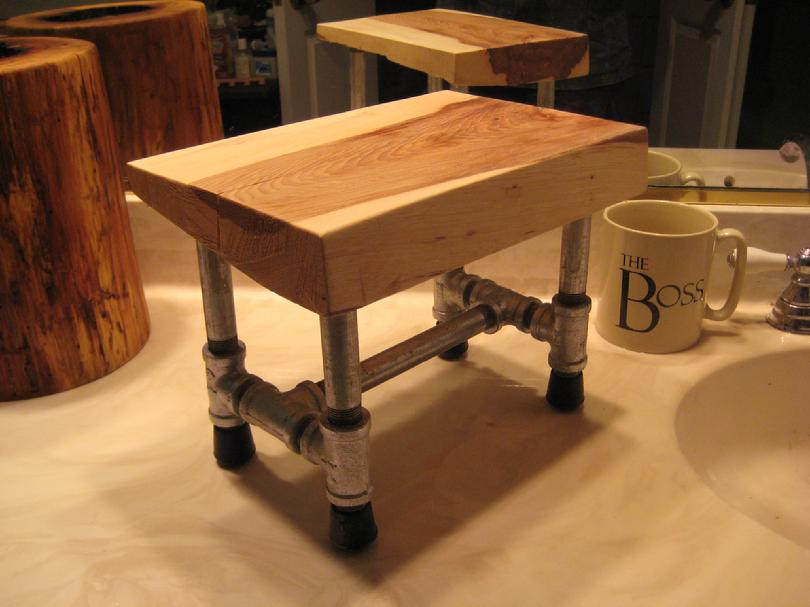 DIY - Small HIckory Stool 001